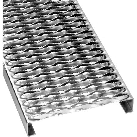 "24"" x 120"" Galvanized 12 Gauge, 10 Diamond, 3 in channel grip strut"
