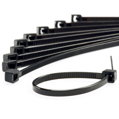 "450mm*7.5mm*1.45mm*120lbs (18"") black nylon zip ties 100 EA"