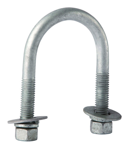 "GUB- 3244 - Galvanized U-bolt Assembly, 3/8"" x 2-1/2"" x 4"" - Launch 3 - Launch 3 Direct"
