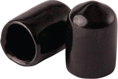 "1/2"" Vinyl Protection Safety Caps for Threaded Rod - Black - Bag of 100 - Launch 3 - Launch 3 Direct"