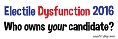 Electile Dysfunction bumper sticker