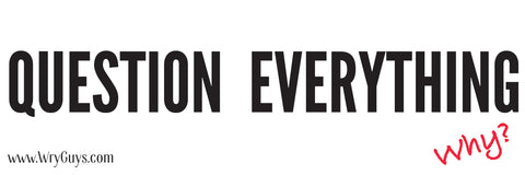 Question Everything - libertarian bumper sticker