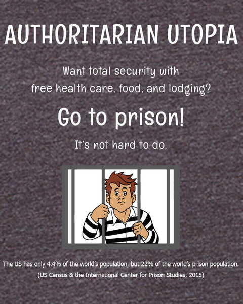 Authoritarian Utopia - Men's Edition - Dark Grey Heathered