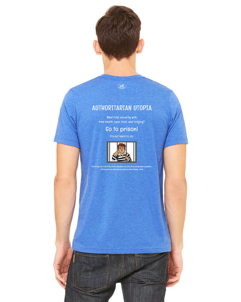 Authoritarian Utopia - Men's Edition - Royal Blue Heathered