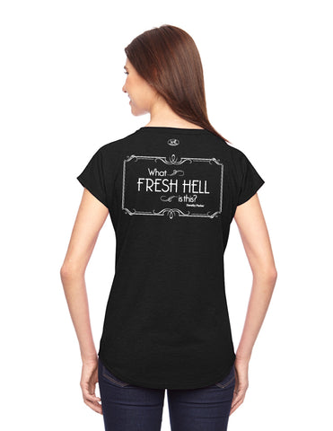 products/Dorothy-Parker-Fresh-Hell-Tee-Shirt-Womens-Black-Back.jpg