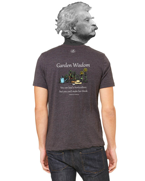 Garden Wisdom - Men's Edition - Dark Grey Heathered - Back