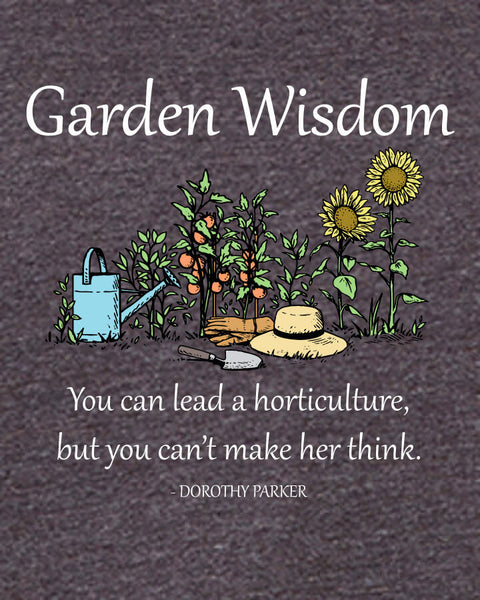 Garden Wisdom - Men's Edition - Dark Grey Heathered - Both