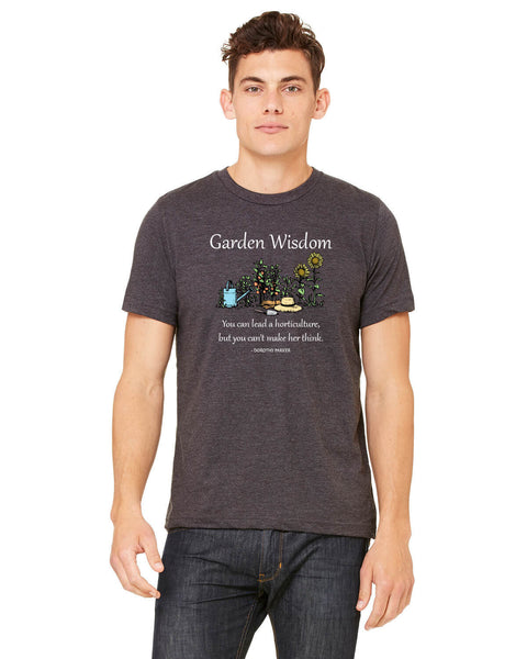 Garden Wisdom - Men's Edition - Dark Grey Heathered - Front