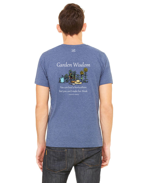 Garden Wisdom - Men's Edition - Navy Blue Heathered - Back