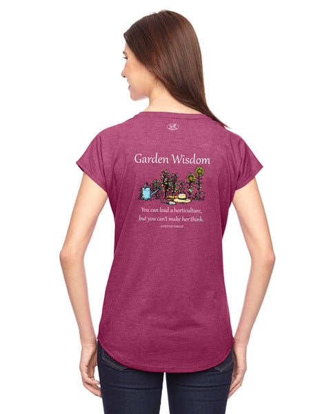 Garden Wisdom - Women's Edition - Raspberry Heathered