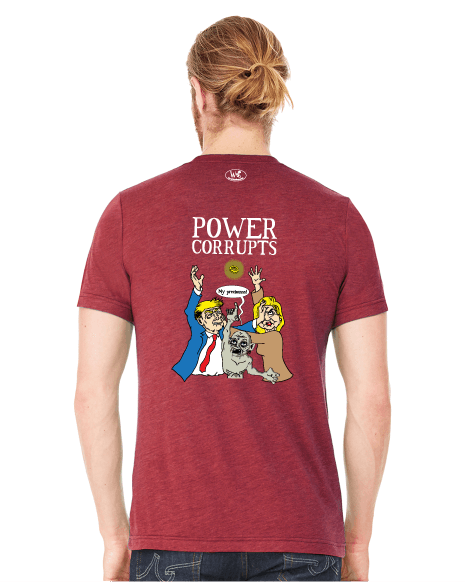 Election 2016: Power Corrupts - Men's Edition - Cardinal Red Heathered