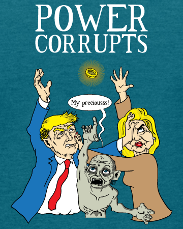 Election 2016: Power Corrupts - Women's Edition - Galapagos Blue Heathered