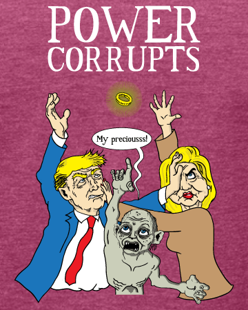Election 2016: Power Corrupts - Women's Edition - Raspberry Heathered