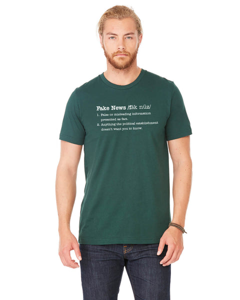 Fake News - Men's Edition - Forest Green Heathered - Front