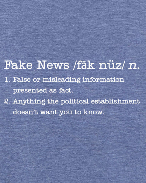 Fake News - Men's Edition - Navy Blue Heathered - Both