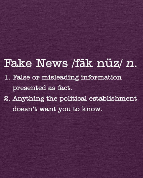 Fake News - Women's Edition - Aubergine Heathered