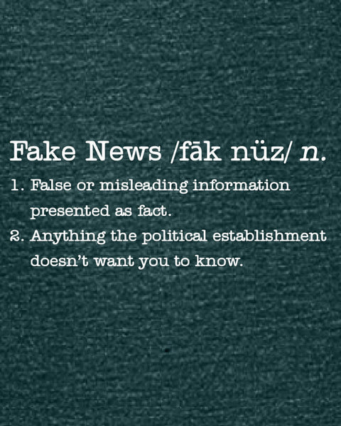 Fake News - Women's Edition - Dark Green Heathered