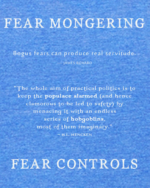 Fear Mongering - Men's Edition - Royal Blue Heathered