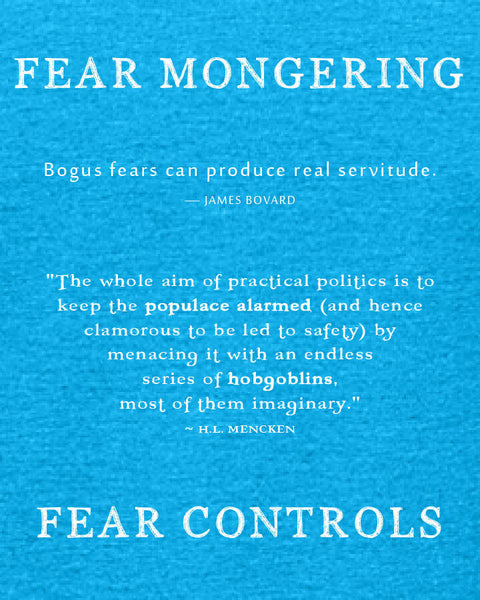 Fear Mongering - Women's Edition - Caribbean Blue Heathered