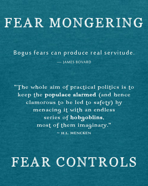 Fear Mongering - Women's Edition - Galapagos Blue Heathered
