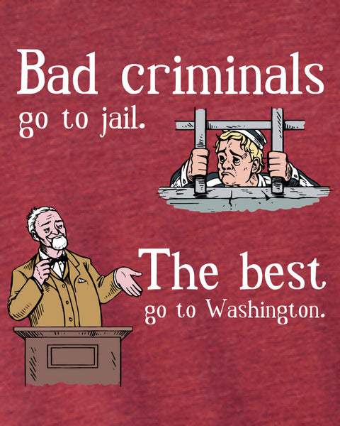 Bad Criminals - Men's Edition - Cardinal Red Heathered - Both