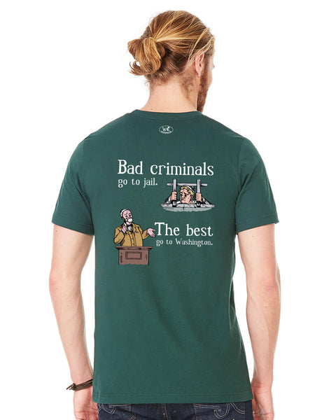 Bad Criminals - Men's Edition - Forest Green Heathered - Back