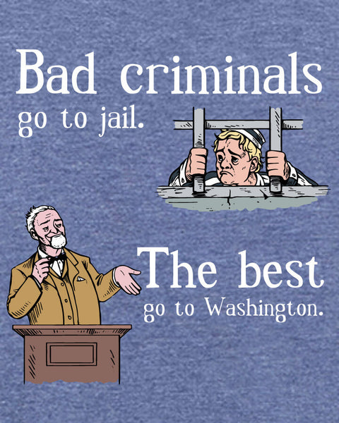 Bad Criminals - Men's Edition - Navy Blue Heathered - Both