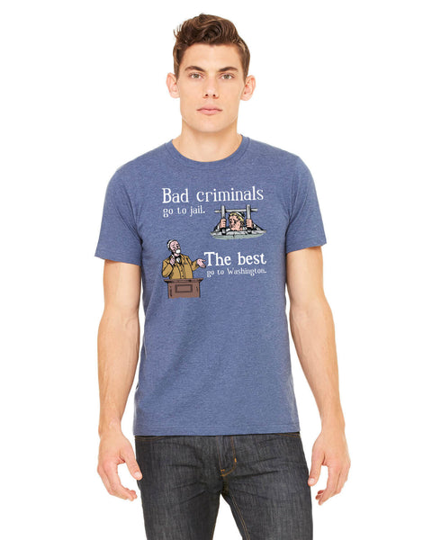 Bad Criminals - Men's Edition - Navy Blue Heathered - Front