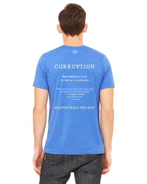 Corruption Sells - Men's Edition - Royal Blue Heathered