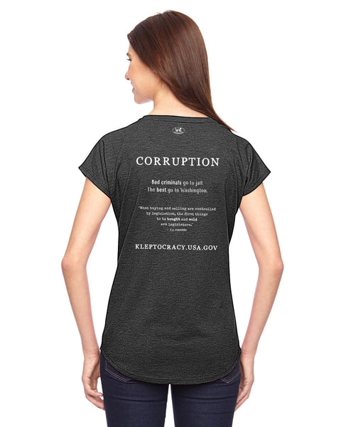 Corruption Sells - Women's Edition - Corruption sells humorous graphic t shirts women