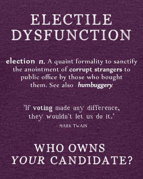 Electile Dysfunction - Women's Edition - Aubergine Heathered