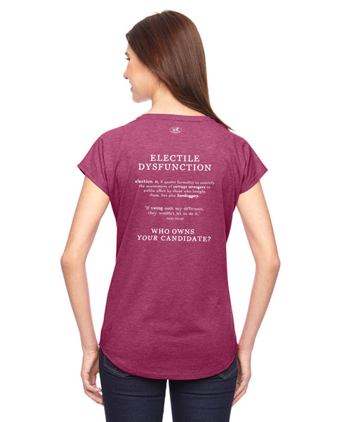 Electile Dysfunction - Women's Edition - Raspberry Heathered