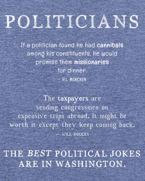 Politicians - Men's Edition - Navy Blue Heathered