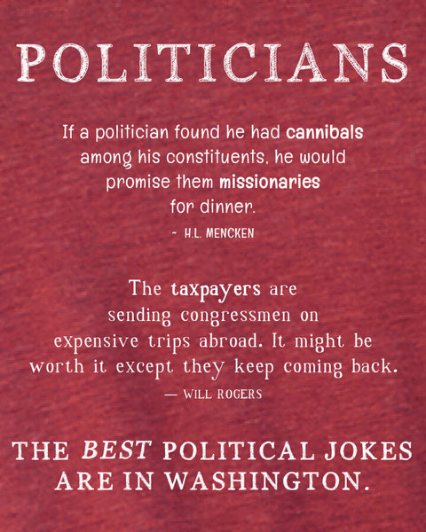 Politicians - Men's Edition - Cardinal Red Heathered