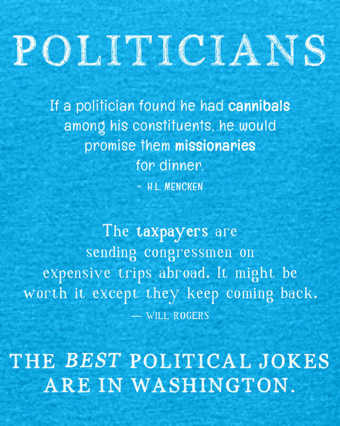 Politicians - Women's Edition - Caribbean Blue Heathered