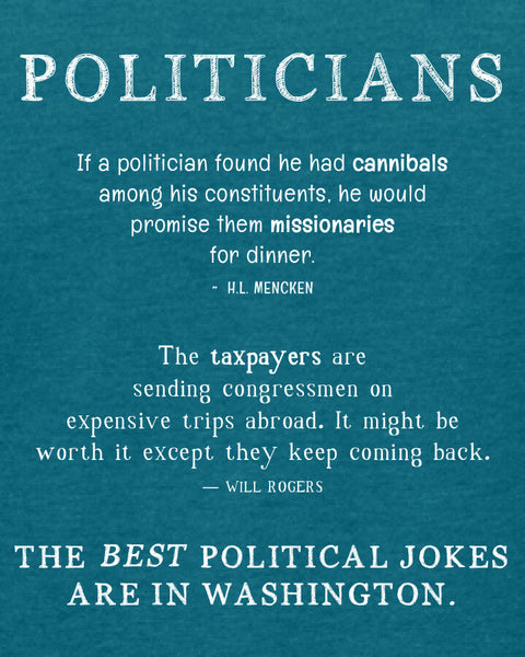 Politicians - Women's Edition - Galapagos Blue Heathered
