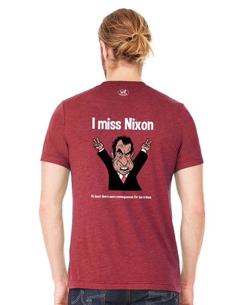 I miss Nixon - Men's Edition - Cardinal Red Heathered - Back
