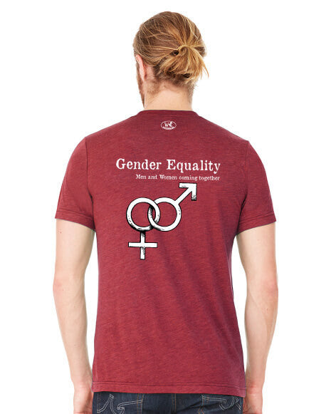 Gender Equality - Men's Edition - Cardinal Red Heathered - Back