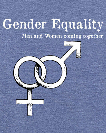 Gender Equality - Men's Edition - Navy Blue Heathered - Both