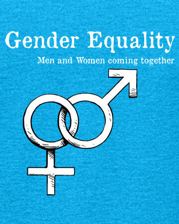 Gender Equality - Women's Edition - Caribbean Blue Heathered