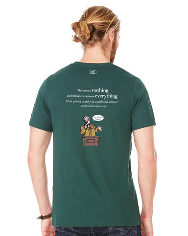 products/George-Bernard-Shaw-Politicians-Tee-Shirt-Mens-Forest-Green-Back.jpg