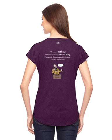 products/George-Bernard-Shaw-Politicians-Tee-Shirt-Womens-Aubergine-Back.jpg