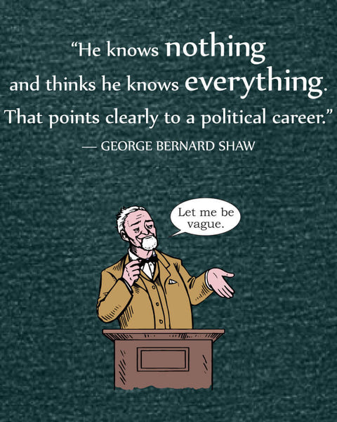 George Bernard Shaw on Politicians - Women's Edition - Dark Green Heathered