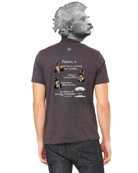 Groucho Marx on Politics - Men's Edition - Dark Grey Heathered