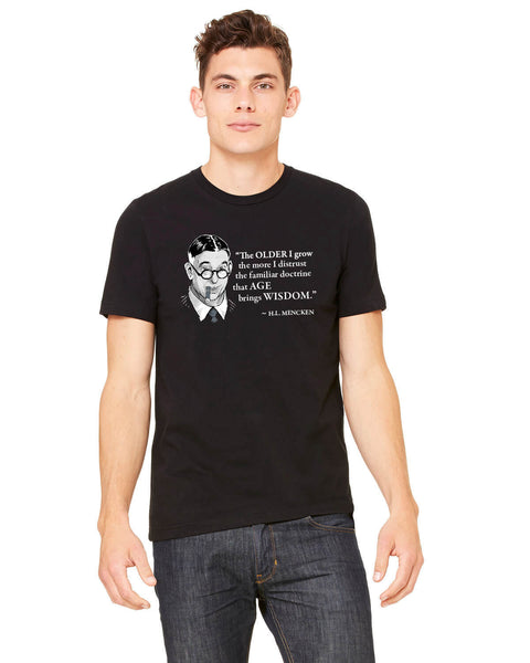 H.L. Mencken on Age & Wisdom - Men's Edition - Black - Front