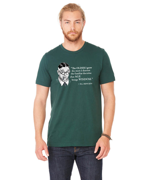 H.L. Mencken on Age & Wisdom - Men's Edition - Forest Green Heathered - Front
