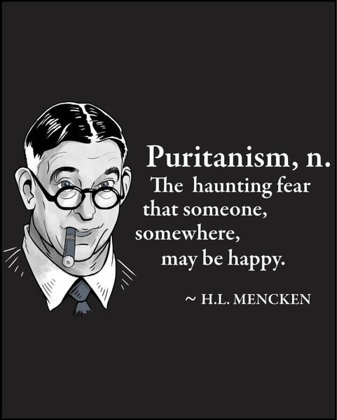 H.L. Mencken on Puritanism - Men's Edition - Black - Both