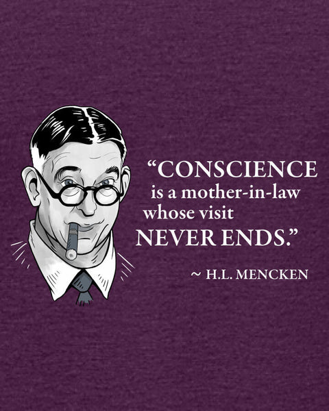 H.L. Mencken on Conscience - Women's Edition - Aubergine Heathered