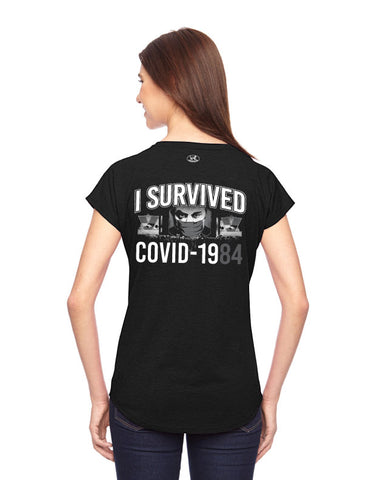 products/I-Survived-COVID-1984-Tee-Shirt-Womens-Black-Back.jpg