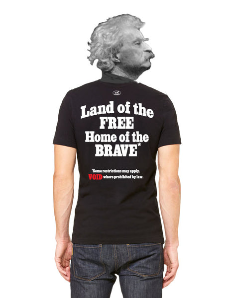 Land of the Free? - Men's Edition - Black - Back